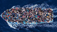 6 milionů uprchlíků je připraveno proniknout do zemí EU, píše se v utajené německé zprávě - anotační foto