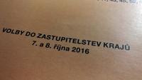 Volby do zastupitelstev krajů 7. a 8. října 2016.