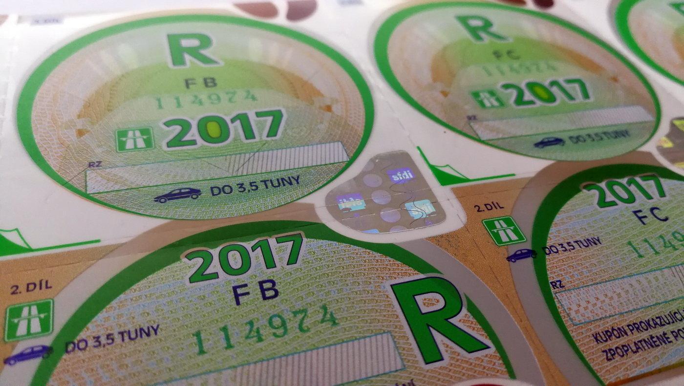 dálniční známky 2017