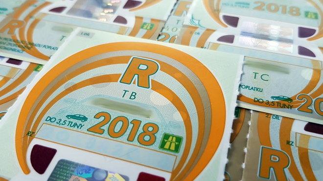 Dálniční známky 2018