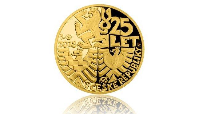 Dukátová řada k25. výročí vzniku České republiky