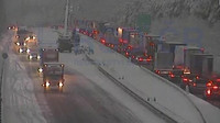 Hrůzná dálnice D1: Do pondělí opravte dálnici u Humpolce, nařídilo ŘSD stavařům - anotační foto