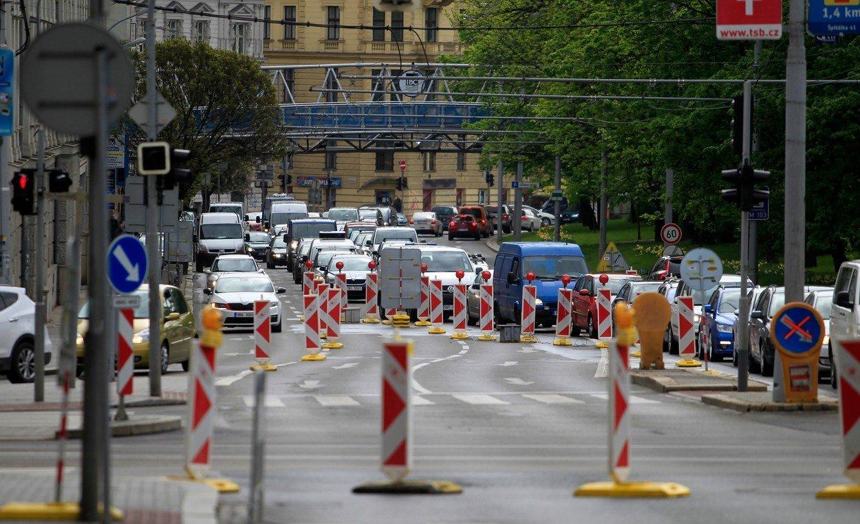 Rekonstrukce na Kolišti v Brně končí. Ode dneška je okruh plně průjezdný - anotační obrázek