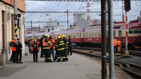 Srážka vlaků na hlavním nádraží v Brně (5. 3. 2019)