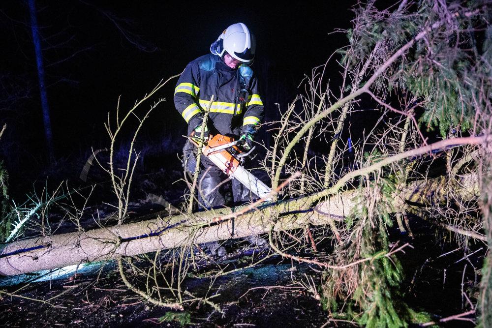 Vichřice Eberhard: Hasiči v Královéhradeckém kraji odstraňují popadané stromy