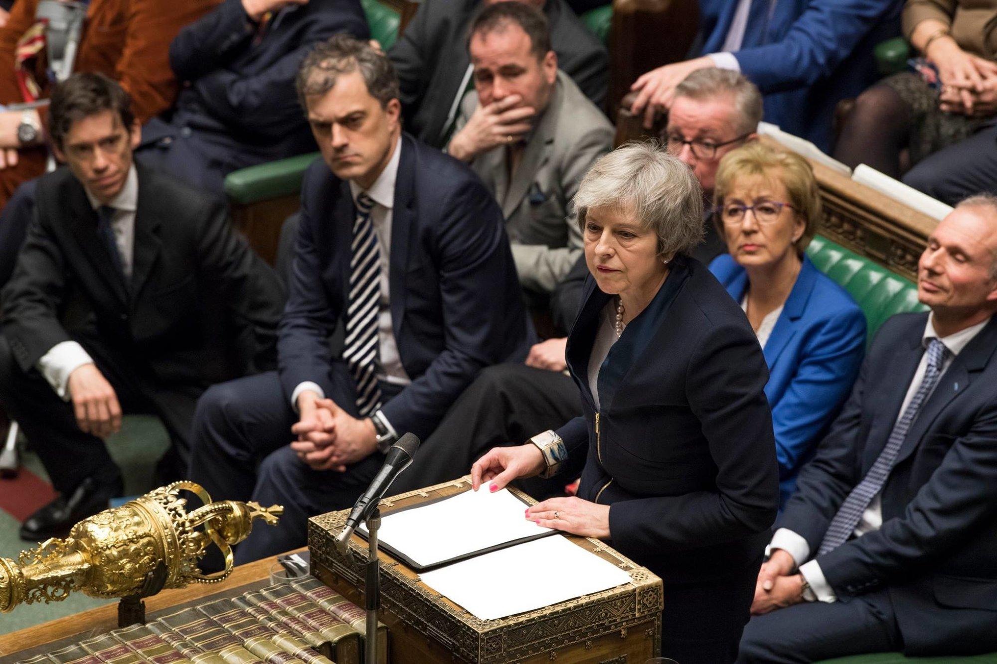 Theresa Mayová v Parlamentu Velké Británie