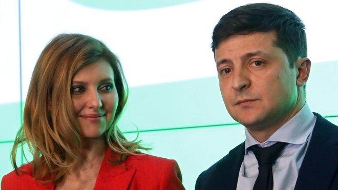 Olena Zelenská a Volodymyr Zelenskyj