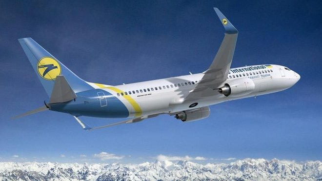 Boeing 737-800 společnosti Ukraine International Airlines