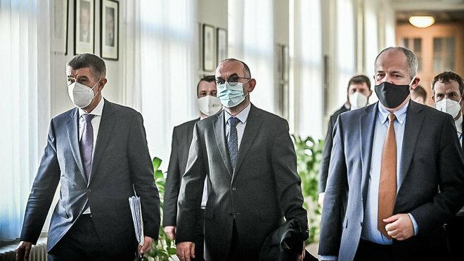 Andrej Babiš, Jan Blatný a Roman Prymula